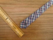 人形用 ネクタイ グレー系 チェック 28cmサイズ