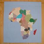 世界地図タペストリー・アフリカ