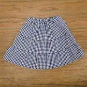 ティアードスカート ギンガムチェック 紺 34cmサイズ