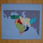 世界地図タペストリー・中東