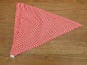 ミニギンガムチェックの子ども用三角巾・赤・ゴムタイプ