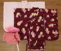 女の子用振袖セット・矢絣と菊