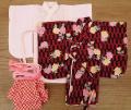 女の子用着物セット・矢絣と菊