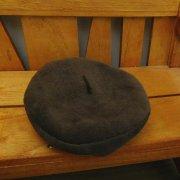 ベレー帽 茶 34cmサイズ
