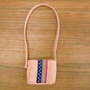 ピンク 国旗モチーフ ポシェット 34cmサイズ