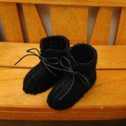 ショートブーツ 黒 34cmサイズ