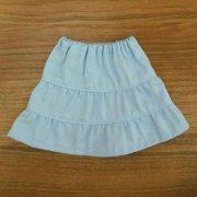 ティアードスカート 水色 28cmサイズ