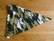 子供用 三角巾 迷彩柄 ゴムタイプ
