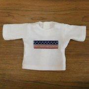 Tシャツ 白 半袖 国旗モチーフ 28cmサイズ