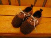 スニーカータイプ 靴 茶 34cmサイズ