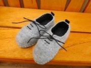 スニーカータイプ 靴 グレー 34cmサイズ