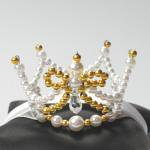 Gold ribbon&swaro crown