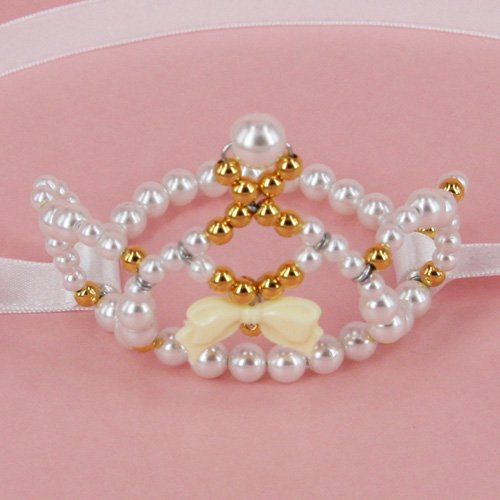 White ribbon Tiara【White】