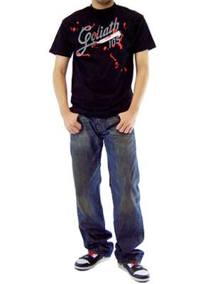 【SALE】ゴライアス ゴライアス 105 S/S Tシャツ ブラックの画像