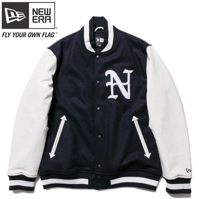 ニューエラ スタジアムジャケット N パッチ ネイビー ホワイト ホワイト ネイビー ネイビーの商品写真