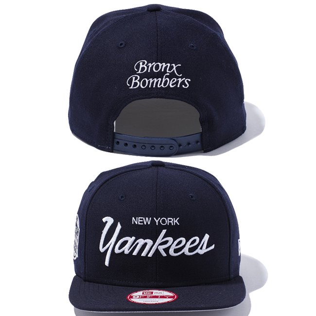 ニューエラ 950 スナップバック キャップ ニューヨークヤンキース ブロンクス ボンバーズ ネイビー ネイビー スノーホワイト スノーホワイトの画像