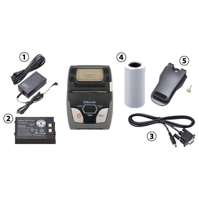 スター精密 モバイル型感熱式プリンター SM-S210iシリーズ SM-S210I2-DB40 JP RS232C Bluetooth接続 MFi認定 ブラック グレーの画像