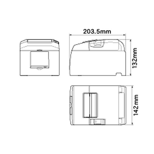 スター精密 据え置き型感熱式プリンター TSP650IIシリーズ TSP654IIBI2-24OF GRY JP JP Bluetooth接続 MFi認定 グレーの画像