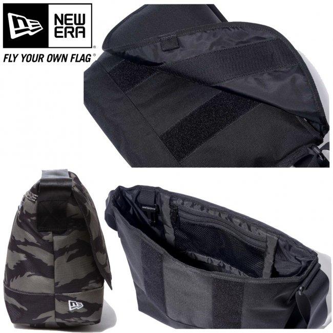 ニューエラ バッグ ショルダーバッグ タイガーストライプカモオリーブ ブラック ホワイトの画像