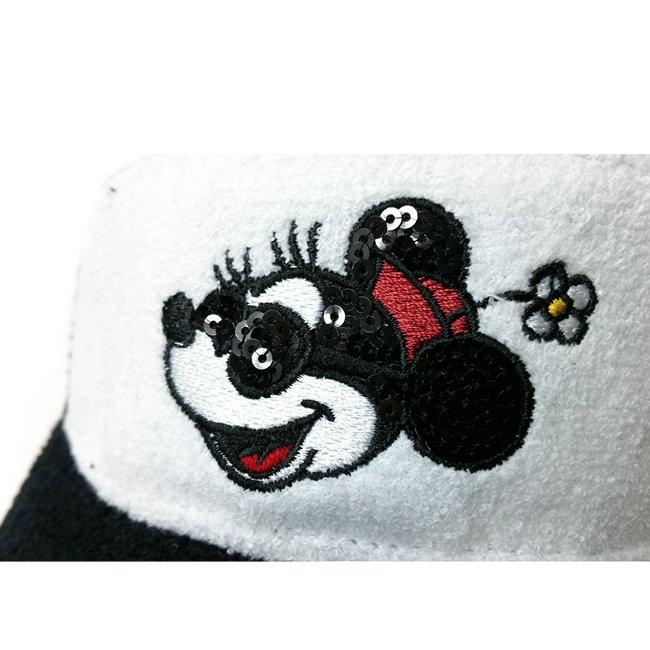ディズニー×ニューエラ サンバイザー ゴルフ シークインド ミニー ホワイトパイル ブラックパイル ホワイトパイル オフィシャルカラー スノーホワイトの画像