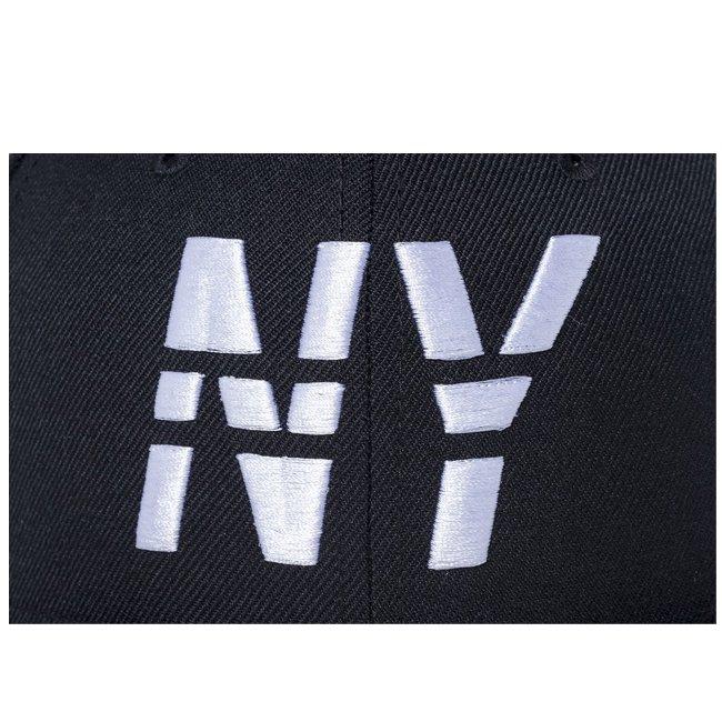 ニューエラ 5950キャップ ホワイトロゴ ニューヨーク ラインド NY ブラック ブラック スノーホワイト スノーホワイトの画像