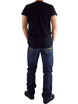 ヌーディージーンズ ガストン ライフ S/S Tシャツ ブラックの画像