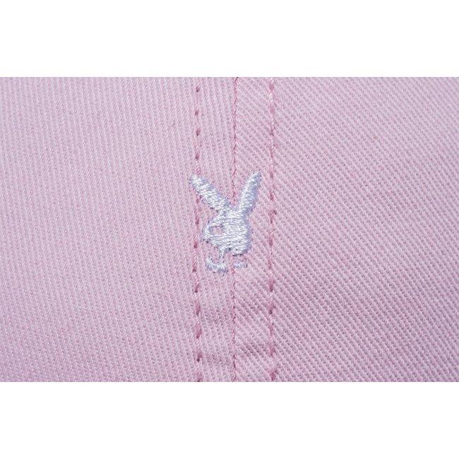 プレイボーイ×ニューエラ 920 キャップ レザーストラップ プレイボーイモノグラム ピンク スノーホワイトの画像