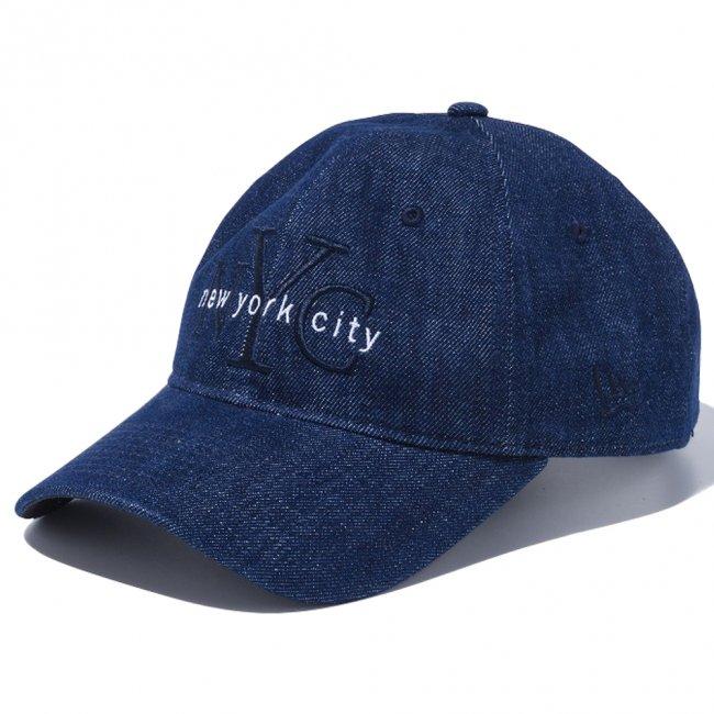 ニューエラ 920キャップ ニューヨークシティ NYC インディゴデニム ミッドナイトネイビー スノーホワイトの画像