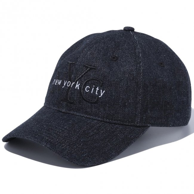 ニューエラ 920キャップ ニューヨークシティ NYC ブラックデニム ブラック スノーホワイトの画像