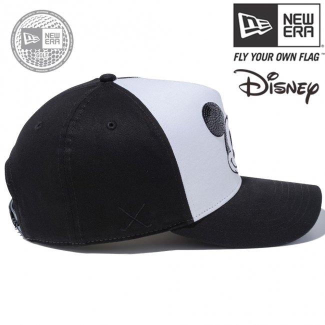 ディズニー×ニューエラ 940キャップ ゴルフ ディーフレームトラッカー シークインド レトロ ミッキーマウス ホワイト ブラック ブラック ホワイト ブラック スノーホワイトの画像