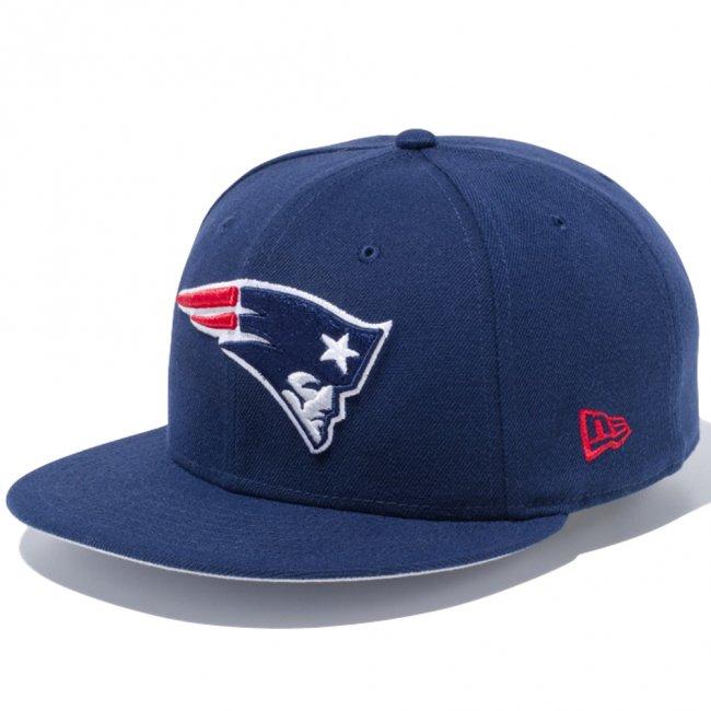 ニューエラ 950 スナップバック キャップ NFLカスタム ニューイングランドペイトリオッツ オーシャンサイドブルー チームカラー フロントドアレッドの画像