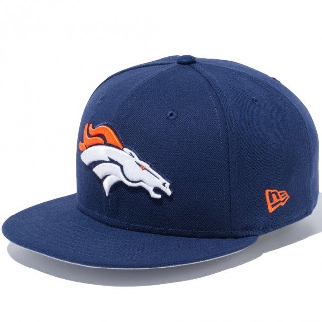ニューエラ 950 スナップバック キャップ NFLカスタム デンバーブロンコス オーシャンサイドブルー チームカラー ラッシュオレンジの画像