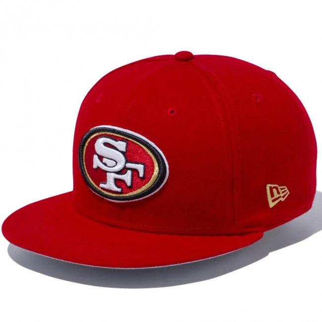 ニューエラ 950 スナップバック キャップ NFLカスタム サンフランシスコ49ers スカーレット チームカラー ブロンズの画像