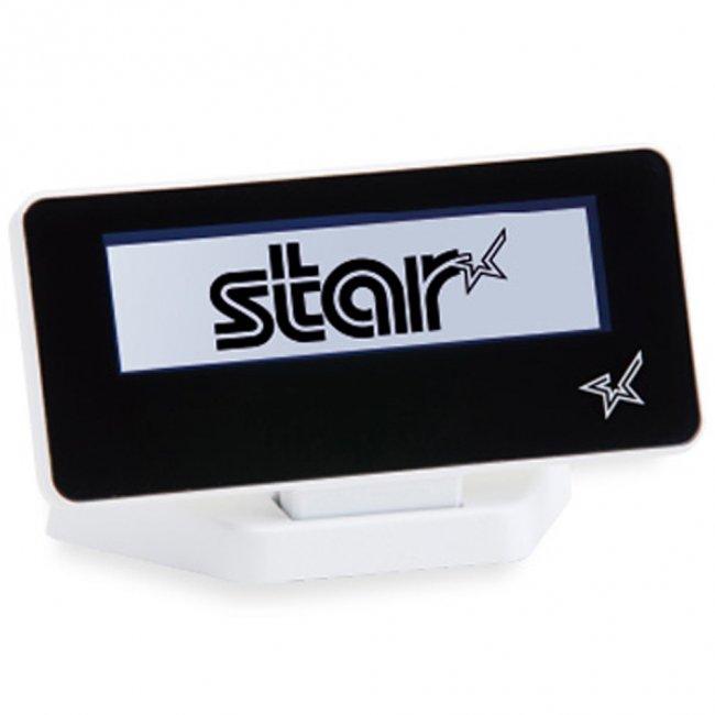 スター精密 mPOP対応カスタマーディスプレイ SCD222U WHT USB接続 スノーホワイト