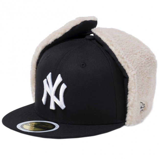ニューエラ 5950キッズ キャップ ドッグイヤー ニューヨークヤンキース ブラック スノーホワイトの商品写真