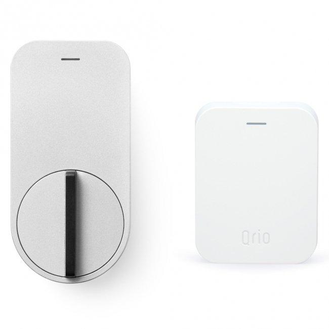 キュリオ スマートロック Q-SL1-HS(Q-SL1&Q-H1) セット(キュリオ ハブ付き) シルバー Qrio Smart Lock Set (including Qrio Hub…