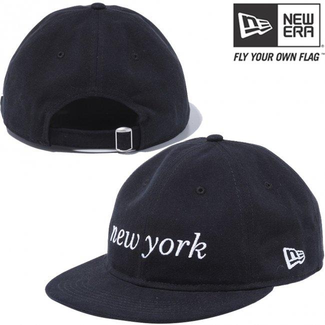ニューエラ 920 フラットバイザー クローズストラップ キャップ ウォッシュドダック ニューヨーク ブラック スノーホワイトの画像