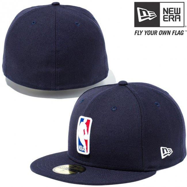 ニューエラ 5950キャップ マルチロゴ NBA ロゴマン ネイビー スノーホワイト ラディアントレッド ロイヤル スノーホワイトの画像
