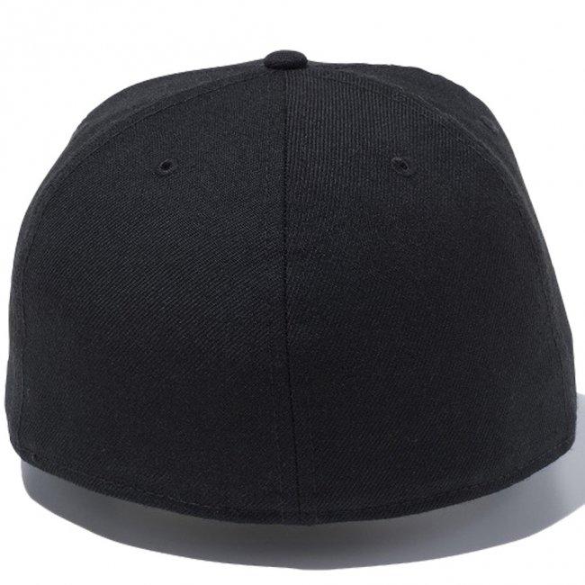 ニューエラ 5950キャップ ブラックロゴ ハローマイネームイズ ブラック スノーホワイト ブラックの画像