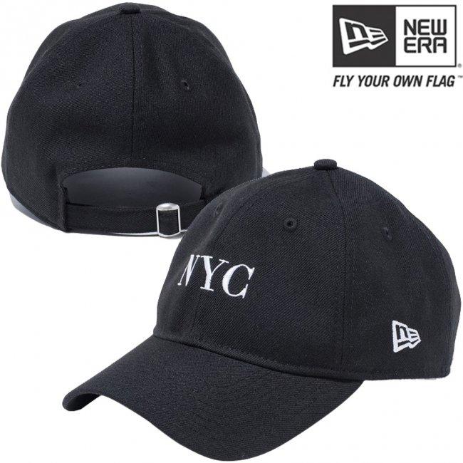 ニューエラ 930キャップ ベーシックファブリック ニューヨークシティ NYC ブラック スノーホワイトの画像