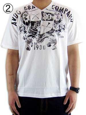 エーケーオーオー (ア キング オブ ワンセルフ) フェーデッド 80クレスト S/S Tシャツ キャビア,ホワイトの画像