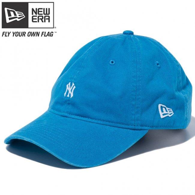 ニューエラ 9THIRTY キャップ クローズストラップ ニューヨークヤンキース スモールロゴ ウォッシュドコットン ブルージュエル スノーホワイトの画像
