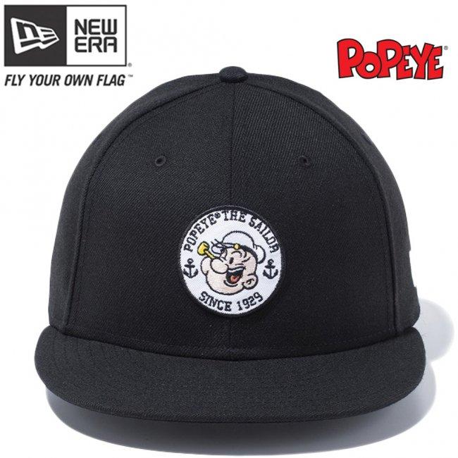 ポパイ×ニューエラ 950 スナップバック キャップ キャラクター パッチ  ブラック マルチカラー スノーホワイトの画像