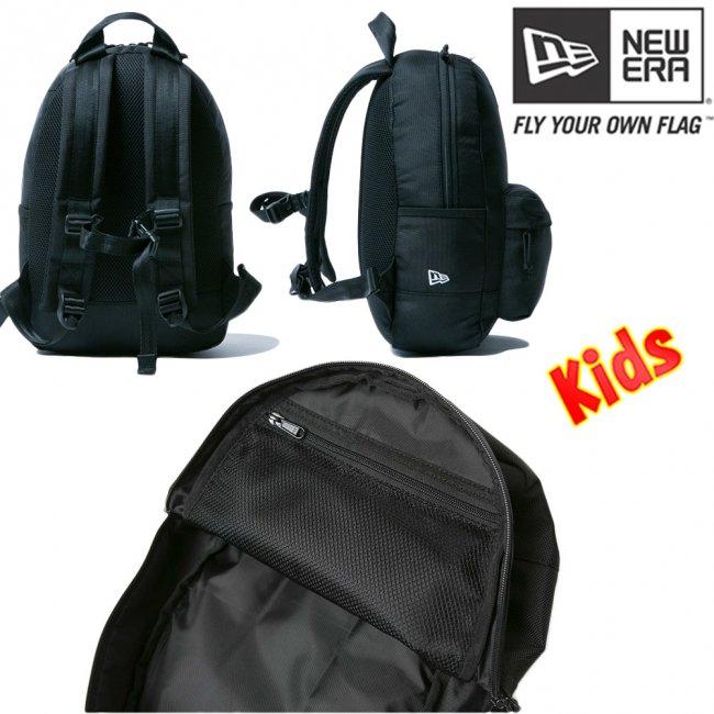 ニューエラ バッグ キッズ リュックサック ライトパック ブラック ホワイトの画像