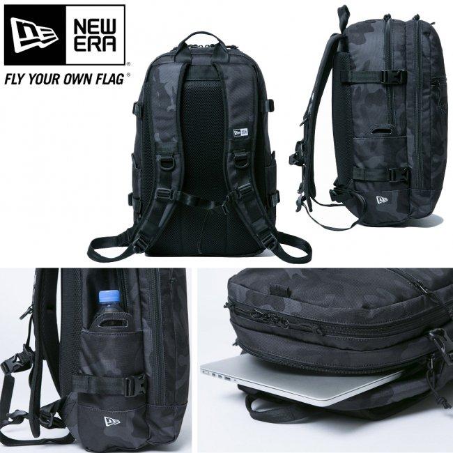 ニューエラ バッグ リュックサック スマートパック ウッドランドカモブラック ブラック ホワイトの画像