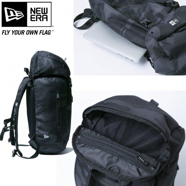 ニューエラ バッグ リュックサック ラックサック ミニ ウッドランドカモブラック ブラック ホワイトの画像
