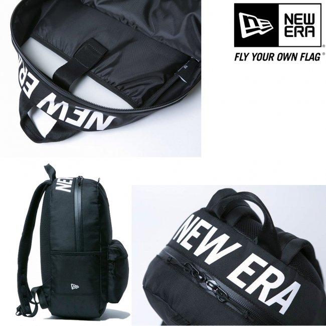 ニューエラ バッグ リュックサック ライトパック プリント ブラック ホワイトの画像