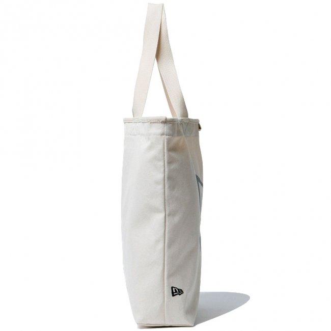 ニューエラ バッグ キャンバス トートバッグ フラッグロゴ アイボリー ブラックの画像