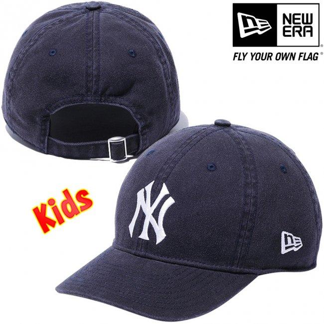 ニューエラ 920キッズキャップ クローズストラップ MLB カスタム ニューヨークヤンキース ネイビー スノーホワイトの画像