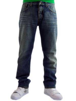 ヌーディージーンズ イーブン スティーブン ロー ヨーク ストレート レッグ ヘブン ブロークン ブルーの画像